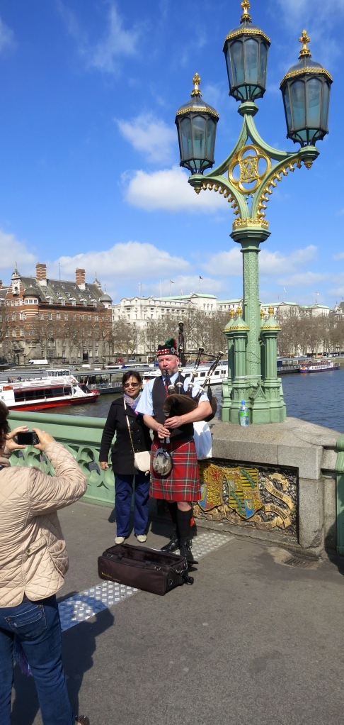 Piper on Westminster Bridge