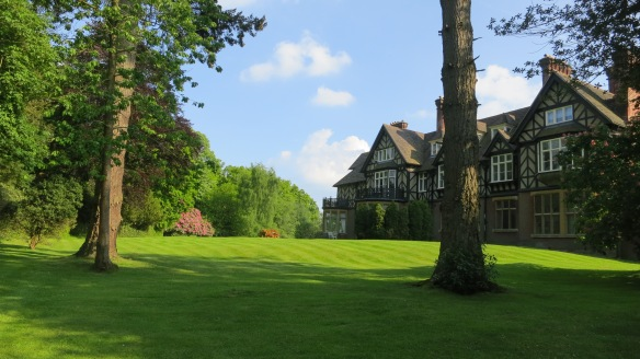 Back lawn, Castle Malwood Lodge