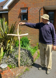 Geoff with eucalyptus cross