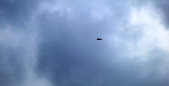 Helicopter over Thames