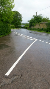 Minstead road markings