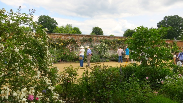 Jackie in walled garden, Mottisfont