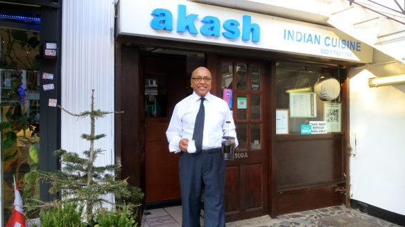 Majid outside akash