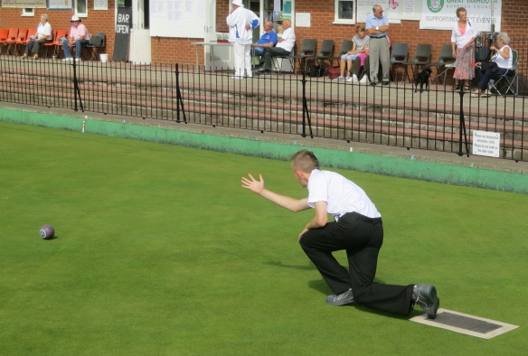 Young lad bowling