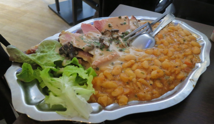 Gammon and beans