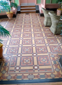 Conservatory Tiles, Russell-Cotes museum