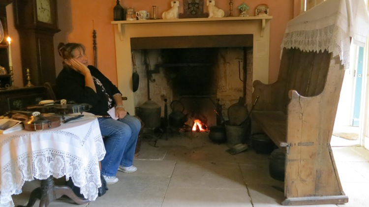 Jackie in Hardy's cottage sitting room