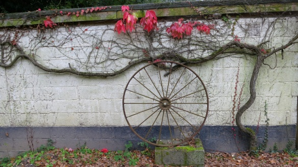 Yew Tree Cottage wall