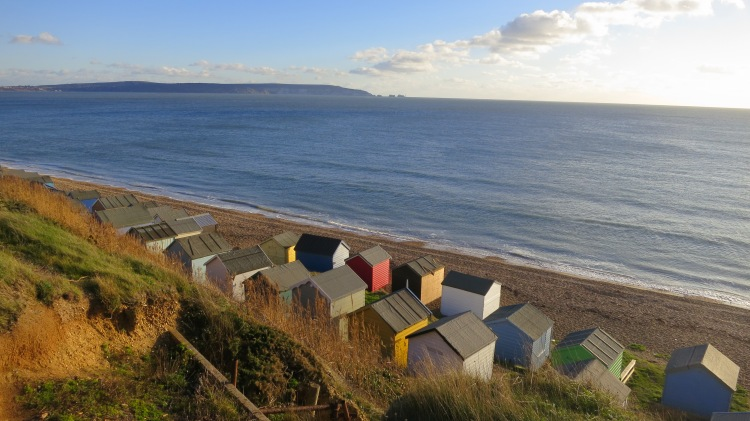 Beach huts and The Needles