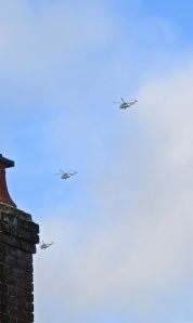 Helicopter trio