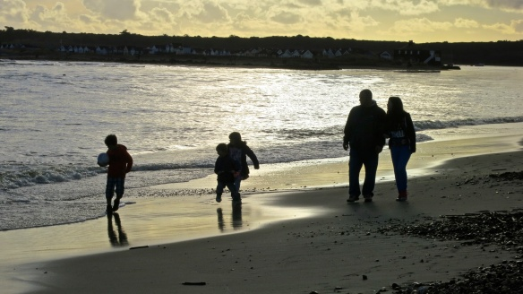 Family in silhouette