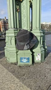 Hat on lamppost