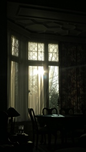 Morning sun through window