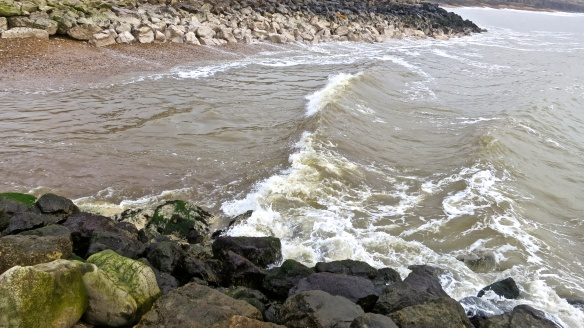 Waves approaching shingle