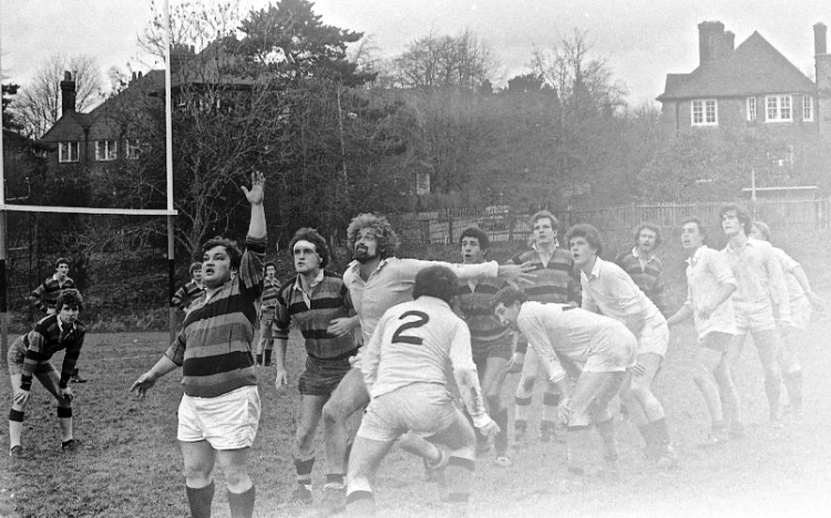 Derrick in lineout 1982