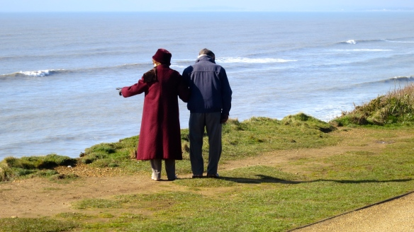Couple on cliff top