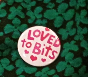 Loved to bits badge