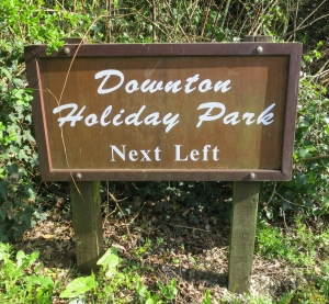 Downton Holiday Park sign