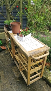 Butchers blocks potting shed