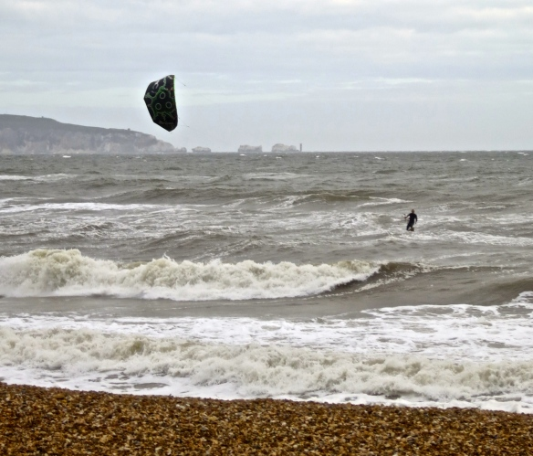 Kite surfer & The Needles