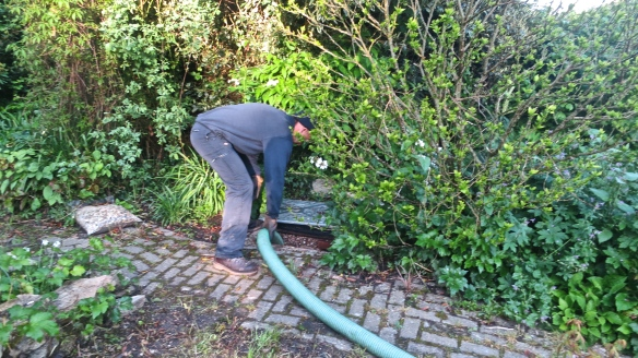 Pumping out septic tank