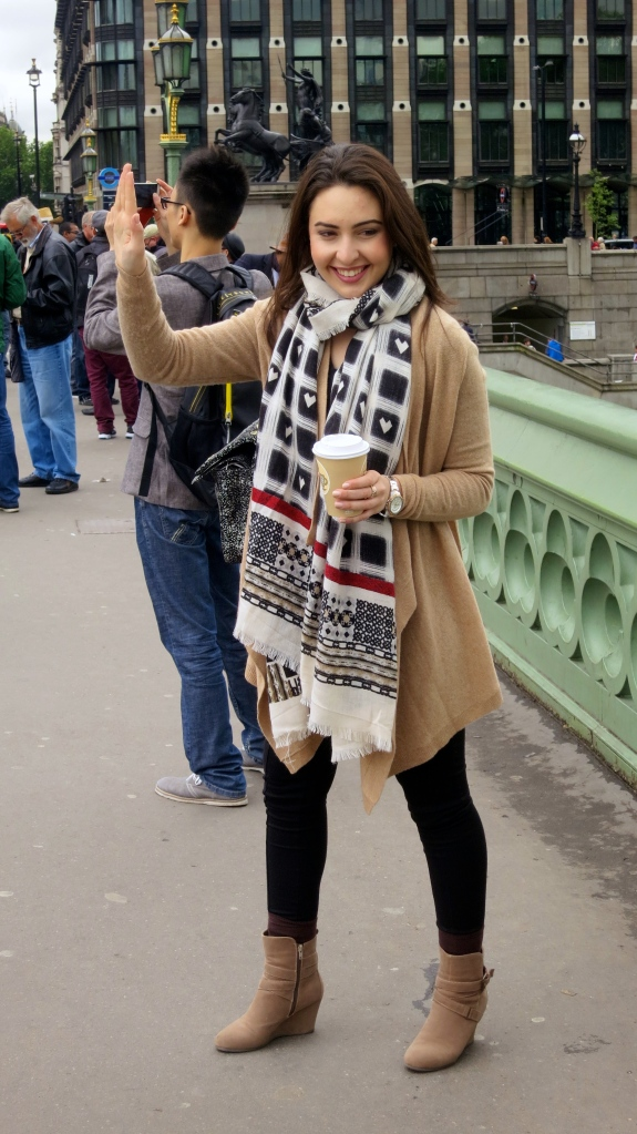 Young woman supporting Big Ben