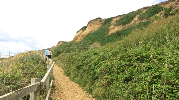 Becky and Ian on cliff path