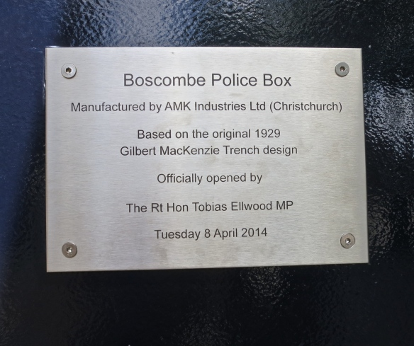 Boscombe Police Box notice