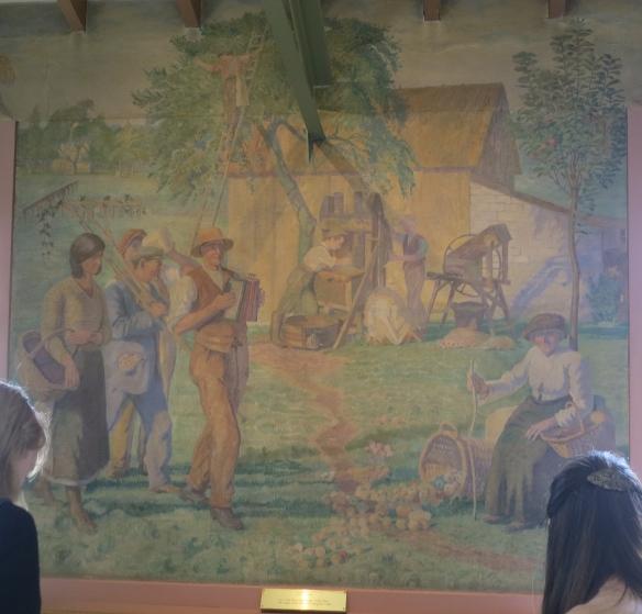 Cider pressing mural