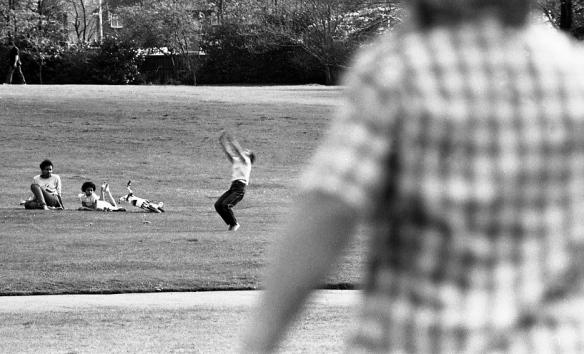 Girls in park (cartwheel) 1982
