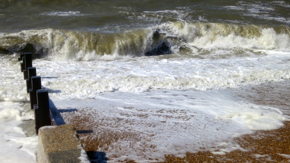 Sea and breakwater
