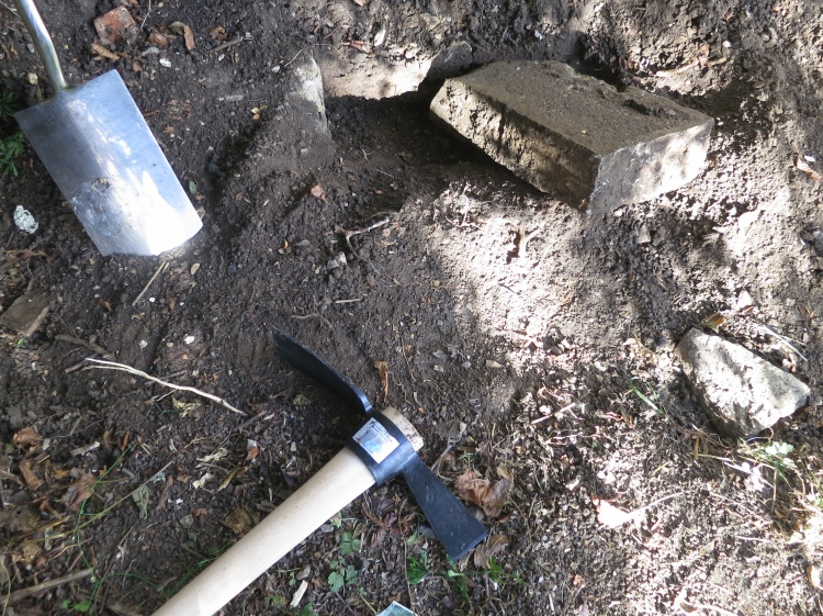 Stone dug out