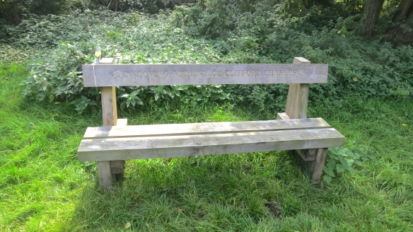 Clifford Charles memorial bench