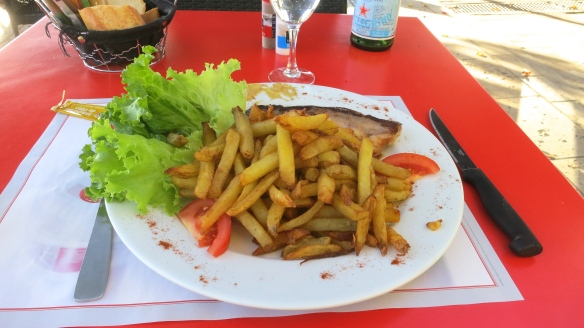 Duck and chips