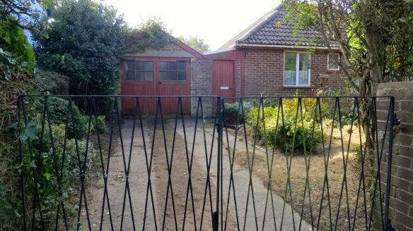 Front garden next door