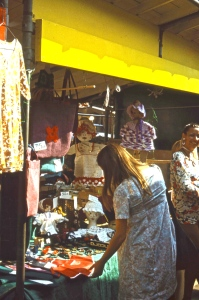 Joan and Jackie at market stall 8.72