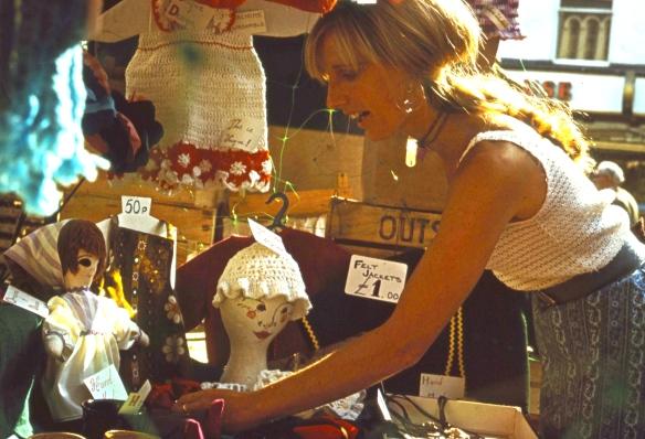 Linda at market stall 8.72