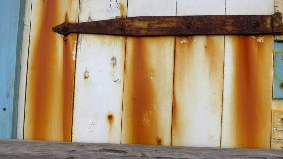 Rust stains on beach hut