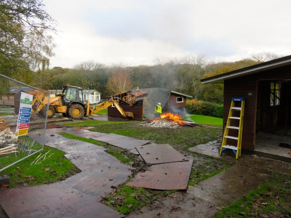 Chalet demolition 1