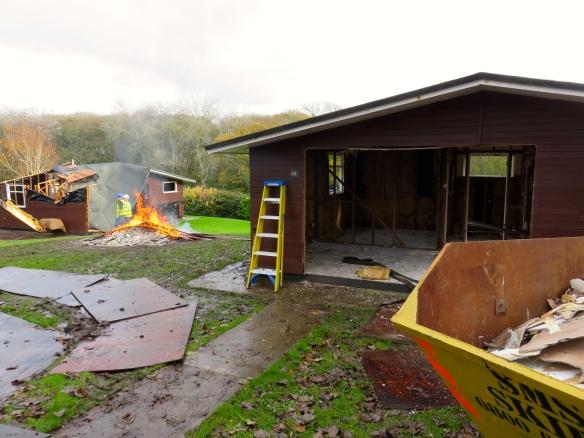 Chalet demolition