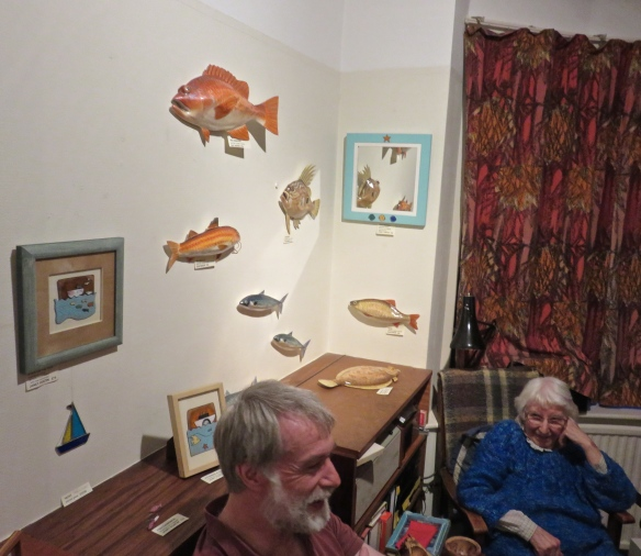 Margery and Paul and exhibits
