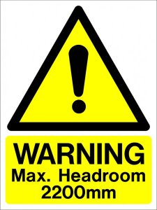 Max Headroom warning sign