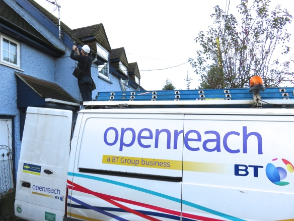 Openreach engineer and van