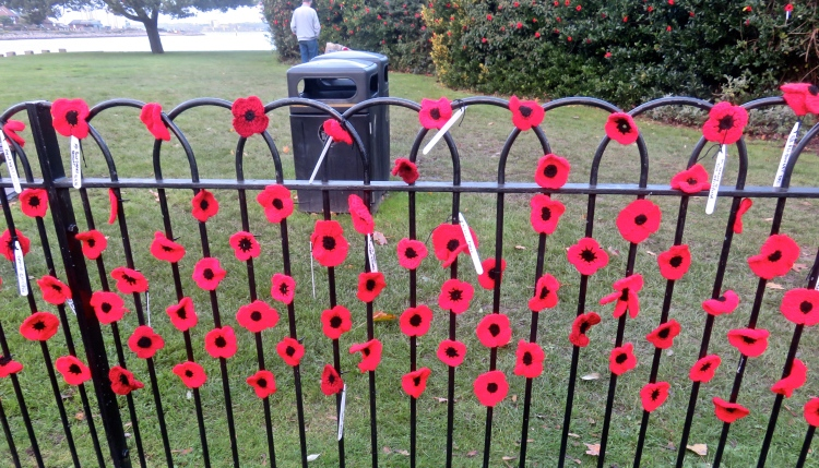 Poppy railings and shrubs