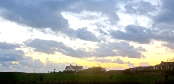 Skyscape with house