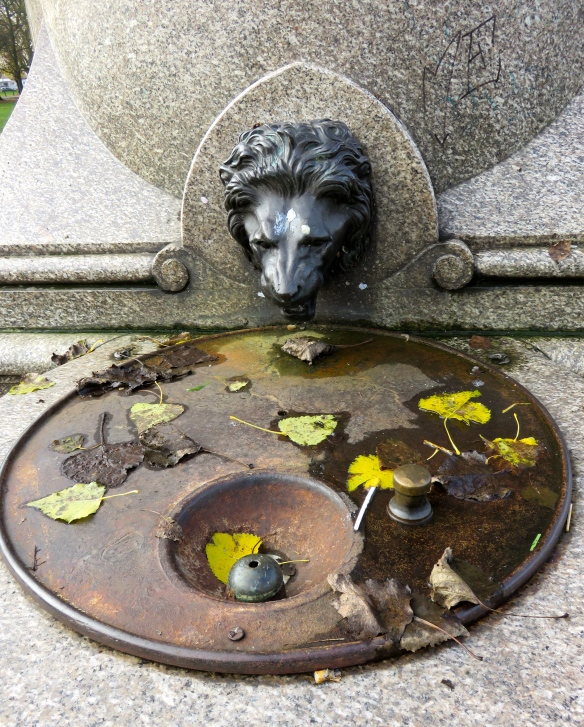 Temperance fountain lion