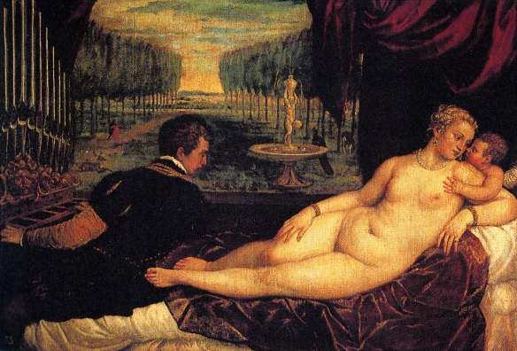 Titian, Venus with Cupid and Music