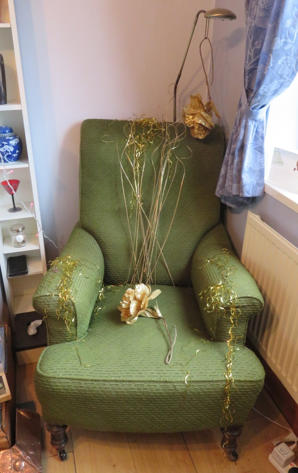 Chair decorated