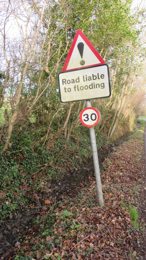 Road liable to flooding