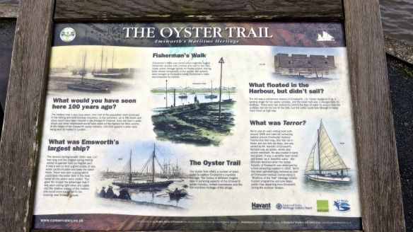 The Oyster Trail sign